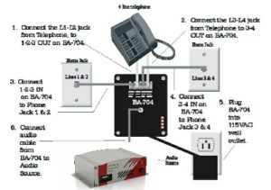 Skutch BA-704 On-Hold Adapter Diagram